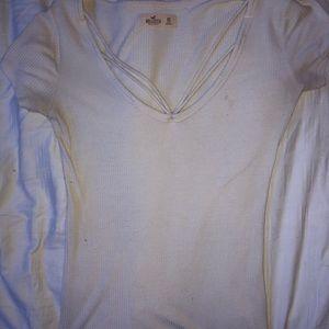 White xs Hollister t-shirt.